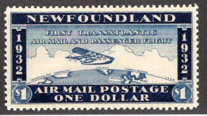 AMTE4, NSSC, Newfoundland, Canada,$1, XF/SUPERB, MNHOG, First Transatlantic Air