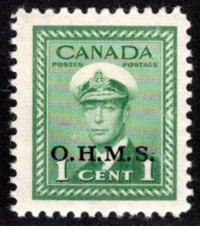 O1 - MNHOG, FVF- 2c - O.H.M.S.o/p - War Issue, 1942-43