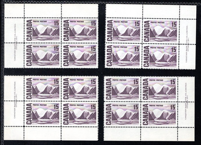 463 Scott, Matched Plate Block Set, Plate 1, LF, DEX, MNHOG, VF, Centennial