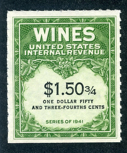 Scott RE195 - $1.50¾ - 1951-54 Wines - MNH - No Gum As Issued