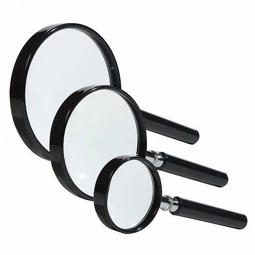 MAGNIFIER WITH GLASS LENS 2.5X