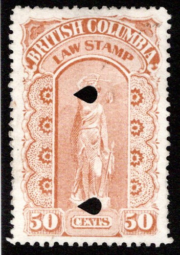 BCL11, 50c, buff, used, British Columbia Law Revenue Stamp, 3rd issue, p.11