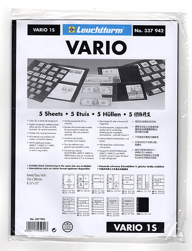 VARIO 1S, Stamp Sheets (1 division) BLACK