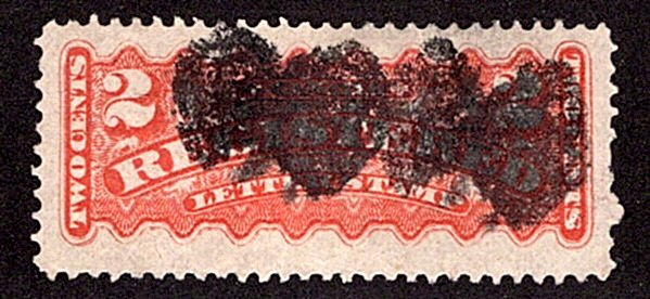 "F1, 2c, Registration, Canada, p12 , orange, Used, ""BUTTERFLY"" Fancy Cork cancel"