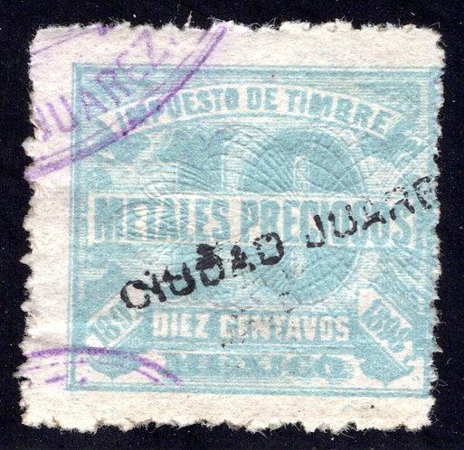 MP 9, Mexico, 10c, 1897-1898, Precious Metals / Metales Preciosos