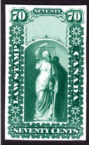 OL8, QL7, van Dam 70c, green, Plate Proof, Canada, no overprint