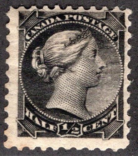 34 Scott - 1/2c black, F, MHOG, Small Queen Issue