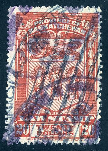van Dam SL44 - CARIS SKL44 - Used- $20 - Rose Carmine - 1908 Saskatchewan Law