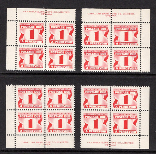 J34iii, Scott, 8c, HB, DEX, MNHOG, matched plate block of 4, 2nd Centennial