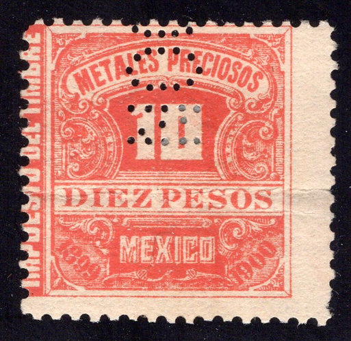 MP 19, Mexico, 10P, 1899-1900, Precious Metals / Metales Preciosos, light crease