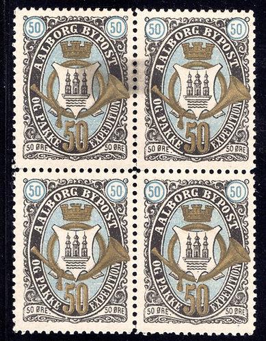Denmark, Danmark,Aalborg, Private Post, MH/MNH