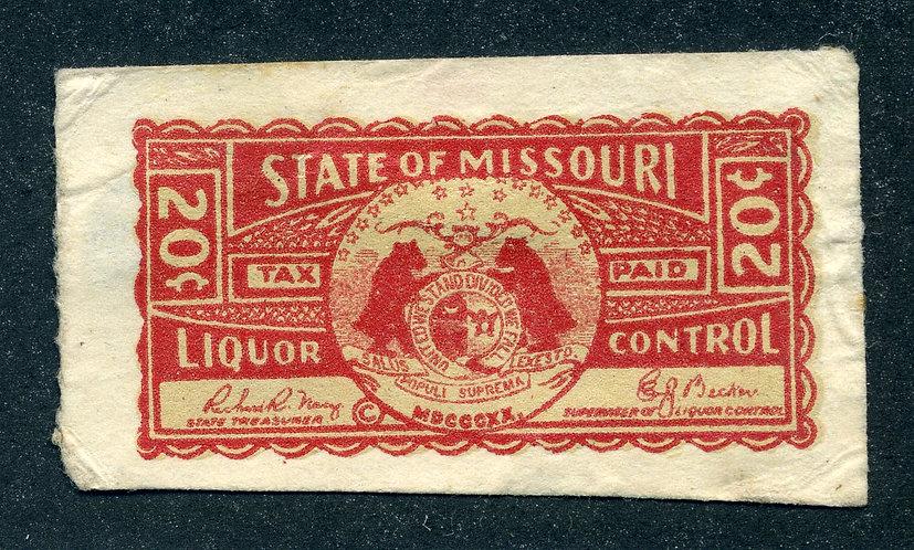 Missouri - MO L33 - 20c red - Used