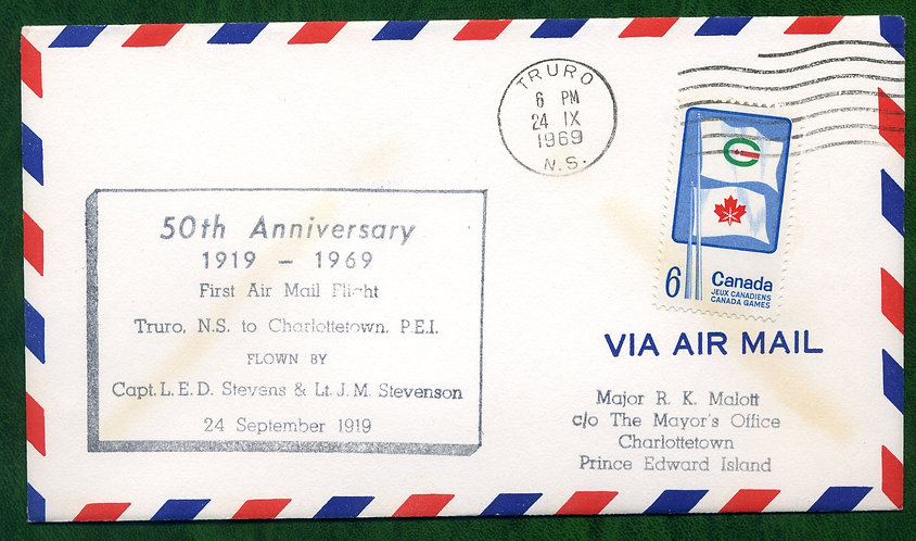 First Air Mail Flight - Truro to Charlottetown - 50th Anniversary