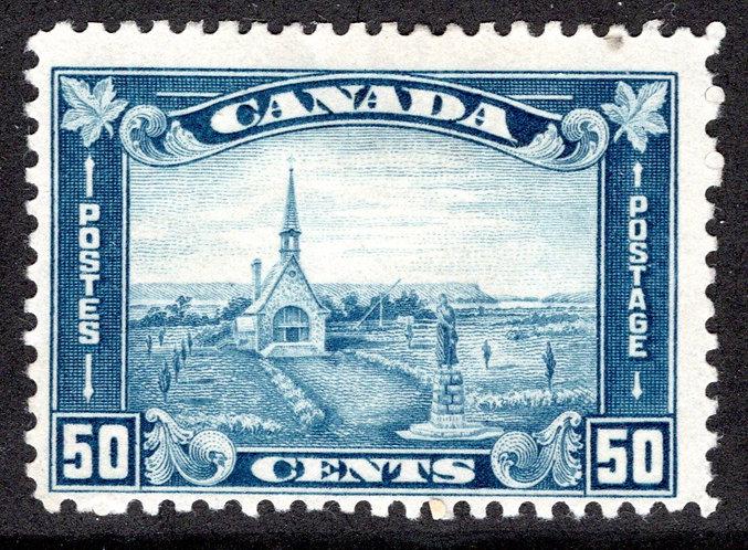 176, Scott, MHOG KGV Arch/Leaf Issue, Grand Pre, NS, Acadian Memorial Church