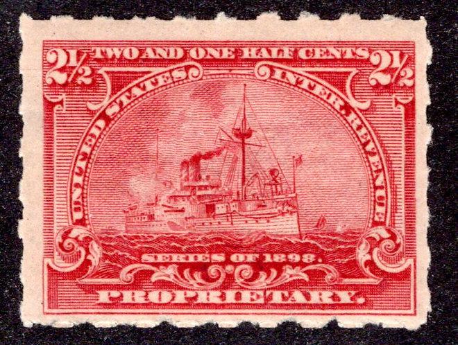Scott RB28p, 2¢ Battleship Proprietary, Hyphen Hole,MLHOG