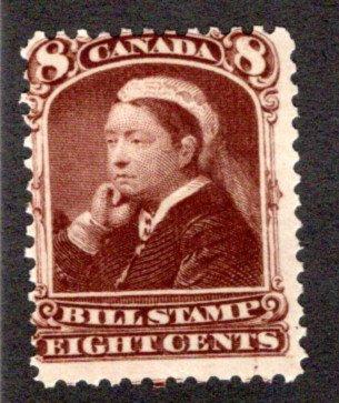 van Dam FB45, 8c, MLHOG,brown, Third Bill Issue Revenue Stamp