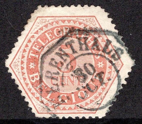 Belgium, H9, 5c 1879, used, Telegraph Revenue Stamp