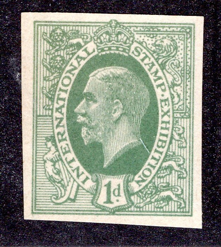 GB 1912 -1d - International Stamp Exhibition - Green - Imperf - MNH