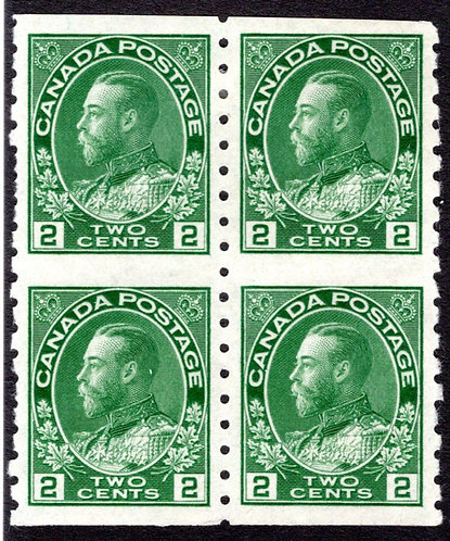 Scott 128a, 2c green, Part Perforate Coils, Sheet form, VF, Top row - MLHOG, bot