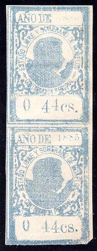 M304, MO280, Mexico, Morelos State, 1885, 0 44cs., ERRORS (click for full desc)