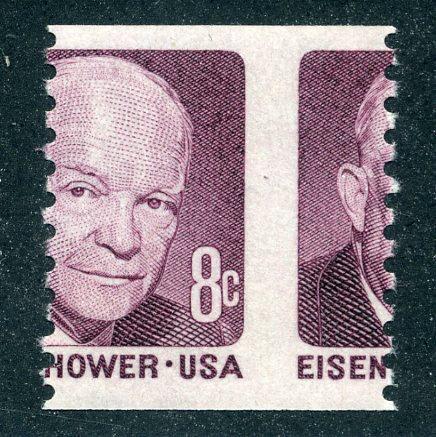 1402 - misperf - 8¢ Eisenhower- MNH- EFO