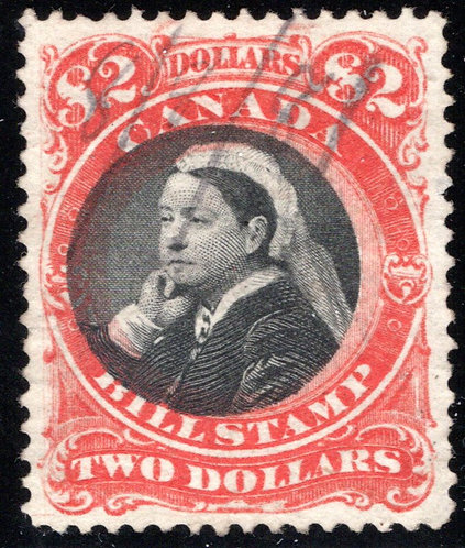 van Dam FB53, $2, Used, SUPERB Centering, Third Bill Issue Revenue Stamp