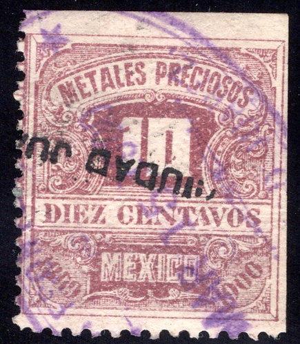 MP 17, Mexico, 10c, 1899-1900, Precious Metals / Metales Preciosos
