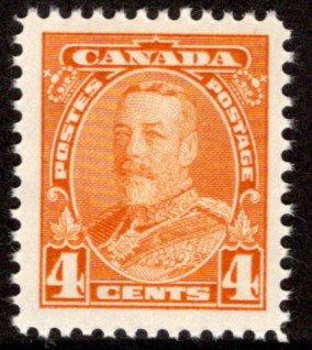 220, Scott, Canada, MNHOG, F/VF, 4c, KGV Pictorial Issue