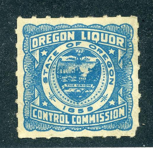 OR LS2 - Oregon Liquor Control Commission - 1959 - MH, Mint Hinged