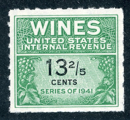 Scott RE185 - 13⅖ cents - 1951-54 Wines - MNH - No Gum As Issued