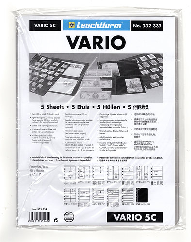 VARIO 5C Sheets, 5 Clear Pockets, Lighthouse