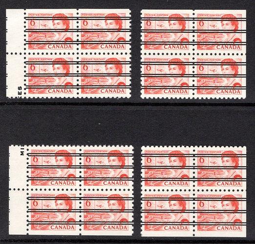 459xx, Scott, Centennial, 6c, orange, precancelled,Matched, DF, Canada Postage