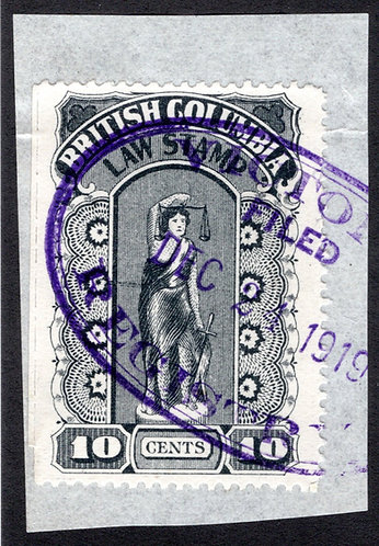 """van Dam BCL22b, """"perf x roulette"""", 10c,used, on piece, British Columbia Law St"""
