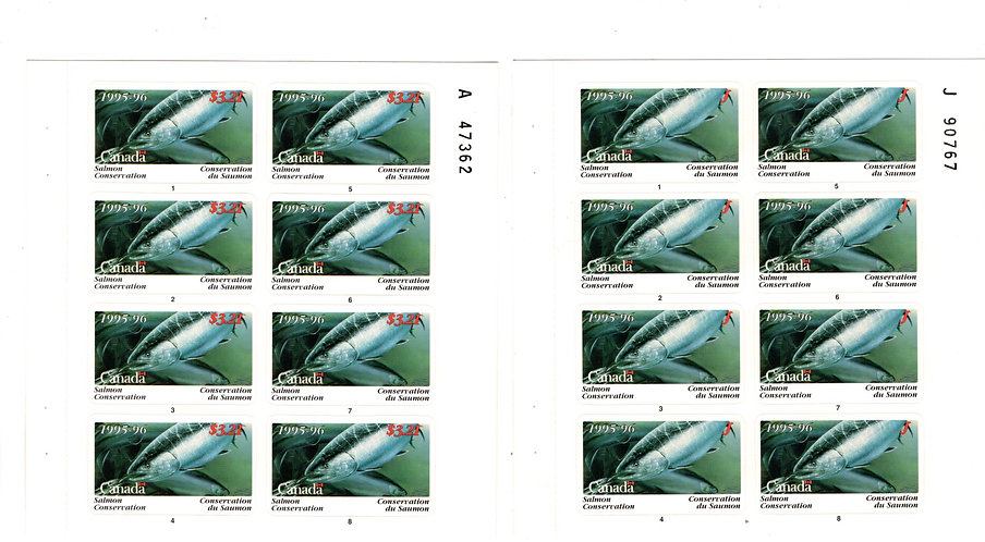 BCF7p van Dam, Canada, 1995-1996, Complete Set of 2 Panes of 8