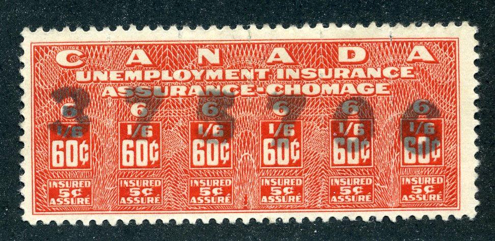 van Dam FU20 - CARIS: CAU 20 - Used - 60¢ Unemployment - 1948 Issue