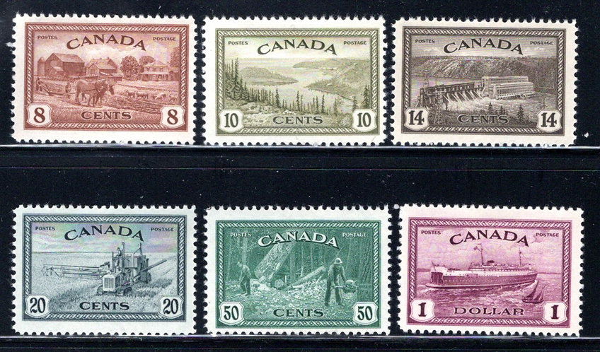 "268-273 Set, MLHOG, F/VF, King George VI ""Peace Issue"""