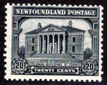 160, NSSC, Newfoundland, Canada, 20c, MLHOG, VG/F, Pictorial Issue 2, Scott 171
