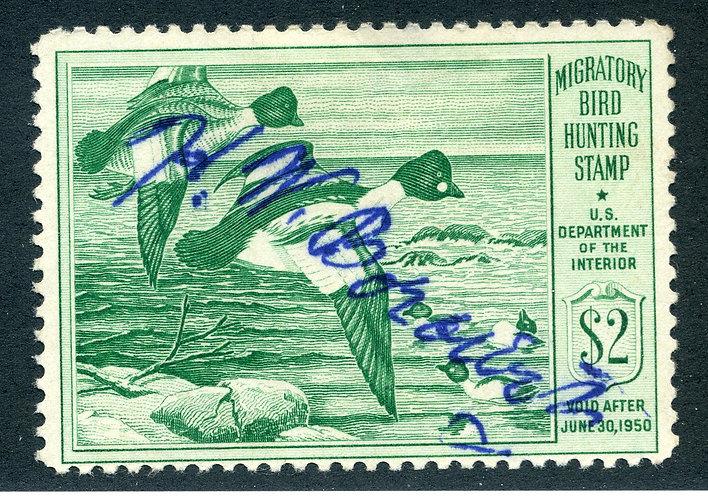 RW16 1949 US Department of the Interior - Goldeneye Ducks - $1 Used Duck Hunting