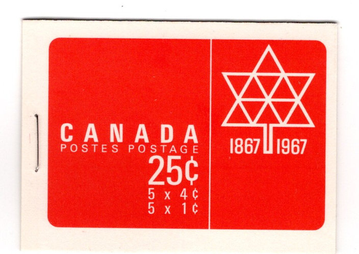 Scott BK54c , Centennial Issue, Booklet, Canada