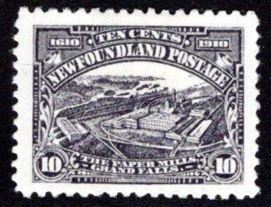 87, NSSC, Newfoundland, 10¢ Paper Mills, F/VF, MLHOG, Newfoundland,Scott 95
