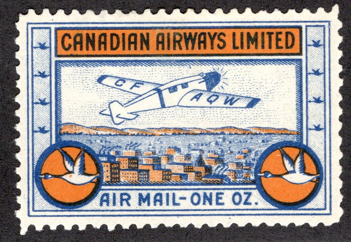 CL51, Canada, 10c , Canadian Airways Ltd., MLHOG, VF/XF, 1932, Private Commercia