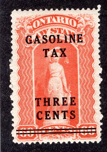 van Dam OGT4 - Ontario Gasoline Tax - 3¢ on 60¢ Red -MLHOG - Perf12 -