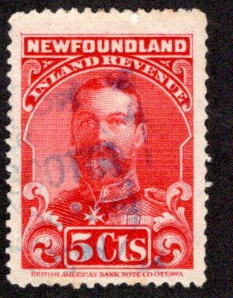 R16, NSSC, Newfoundland, Canada, p.12 - Used - 1910 George V - 5c vermillion