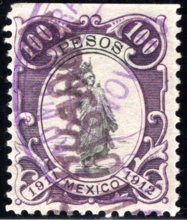 R 331C, MEXICO, 1911-1912, 100P, Liberty Standing, IMPUESTO, Internal Revenue