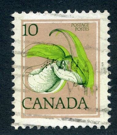 "786 - Canada - Used - Dark green color shift to the left.  See ""flower outline,"
