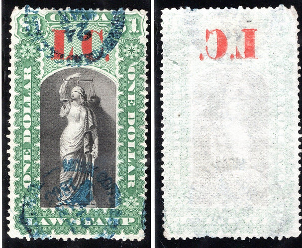 "van Dam QL10 UNLISTED ERROR/FREAK, $1 green & black - Used - Heavy OFFSET of ""L."