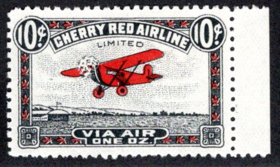 CL46, Canada,10c, Cherry Red Airline Ltd., MHOG, 1929, Private Commercial Airlin