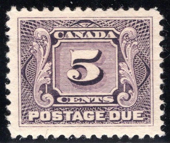 Scott J4, 5c, 1st issue, MLHOG, Canada Postage Due