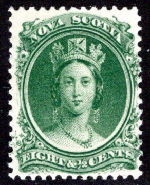 Scott 11a, Nova Scotia, White Paper, MNHOG, F/VF, 8.5c cent, Canada