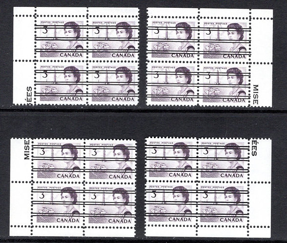 456xxi Scott, 3c purple, Centennial, precancelled, MNH, NF, DEX, Matched PB Set